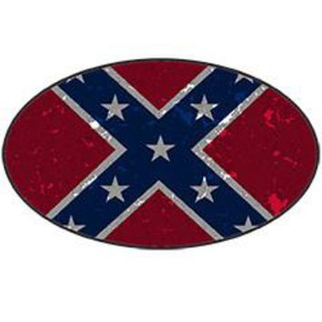 Rebel Flag - Oval Sticker