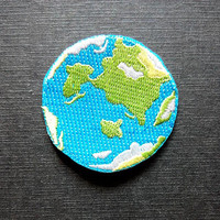 Planet Earth Iron On Patch