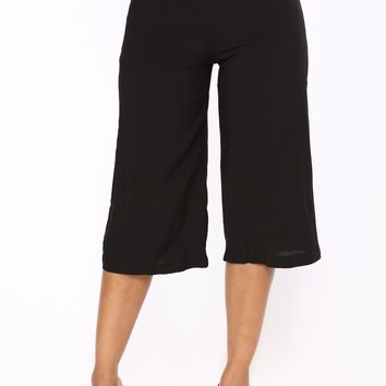 Terri Gaucho Pants - Black