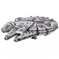 Drop Shipping Star Millennium Falcon War Outer Space Ship Building Blocks Model Toys Christmas Gift for Children LEGOingly 10467