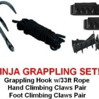 Ninja Grappling Set Climbing Hook Foot Hand Claws Gear