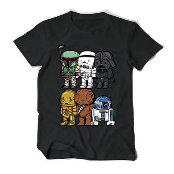 Star Wars Force Episode 1 2 3 4 5 High Quality Man T Shirt  Cartoons Clothing Movie T-shirts Men Adult 100% Cotton darth vader Funny TShirts For TeenBoys AT_72_6