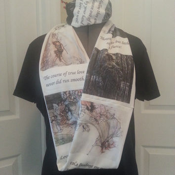 William Shakespeare's A Midsummer Night's Dream KNIT scarf - Regular or Infinity style available - made to order