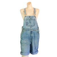 Women Denim Overall Shorts GAP Overall Denim Shortall Bib Overall 90s Overall Blue Jean Overall Over All Dungaree Salopette Femme Over Alls
