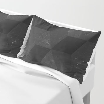 Fade to Black Pillow Sham by duckyb