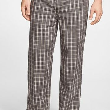 Men's Nordstrom Plaid Poplin Pajama Pants,