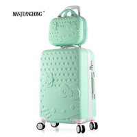 24inch sets High quality Trolley suitcase luggage traveller case box Pull Rod trunk rolling spinner wheels ABS+PC boarding bag