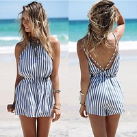 Summer Style Beach Rompers Women Jumpsuit Ladies Sexy