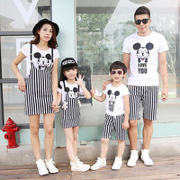 matching mother daughter clothes family look summer cartoon father son t shirt shorts mother daughter dress outfits clothing set