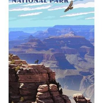 Grand Canyon National Park - South Rim Art Print by Lantern Press at Art.com