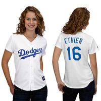 Los Angeles Dodgers Andre Ethier Women's Player Replica Jersey by Majestic Athletic - MLB.com Shop
