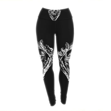 "BarmalisiRTB ""Jawz"" White Digital Yoga Leggings"