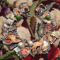 Disney and Prokofiev's Peter and the Wolf Altered Art Charm Bracelet