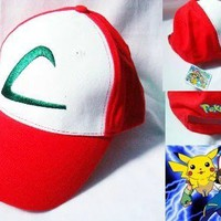 Pokemon Go Cosplay ASH KETCHUM Canvas Baseball hat cap