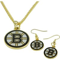 JF Sports Canada Boston Bruins Earring and Necklace Combo