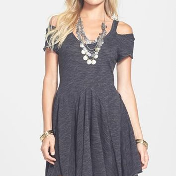 Free People 'Tiny Dancer' Cold Shoulder Skater Dress