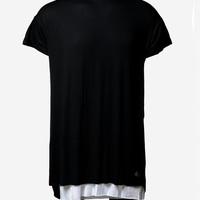 The Exodus Viscose Eclipse Tee (Black/White)