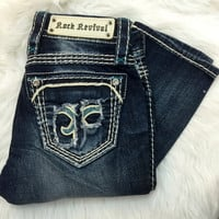 ROCK REVIVAL STACEY STRAIGHT JEANS