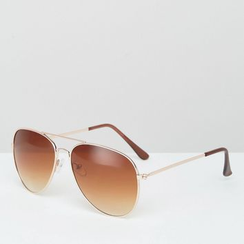 7X Aviator Sunglasses at asos.com