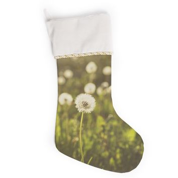 "Libertad Leal ""As You Wish"" Dandelions Christmas Stocking"