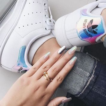 "Adidas Stan Smith ""Hologram Heel Iridescent""-AQ6272"