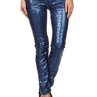 Sequin Pants - Royal Blue