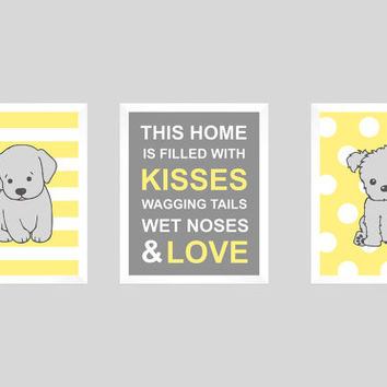 Puppy Print, Dog Print, Puppy Nursery, Boy Nursery Art, Baby Boy, Kids Wall Art, Labrador Print, Dog Quote, Puppy Art, CUSTOMIZE YOUR COLORS