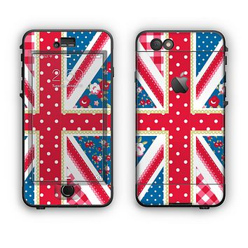 The Fun Styled Vector London England Flag Apple iPhone 6 Plus LifeProof Nuud Case Skin Set