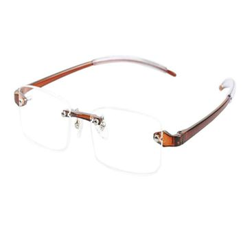 Reading Glasses Rimless Resin Vintage Fashion Reader Computer Reading glasses Women Men Strength 1.0 1.5 2.0 2.5 3.0