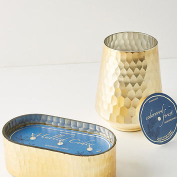 Golden Honeycomb Candle