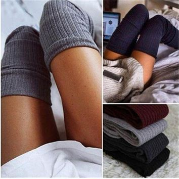 Winter Women's Knit Crochet Cotton Soft Warm Stocking Leggings F