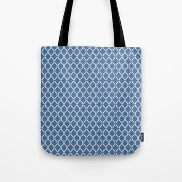 Blue Geometric Pattern Tote Bag by InDepth Designs