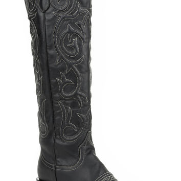Stetson Ladies Fashion Snip Toe Boots Black Vamp 19 Shaft With Snip Toe Toe
