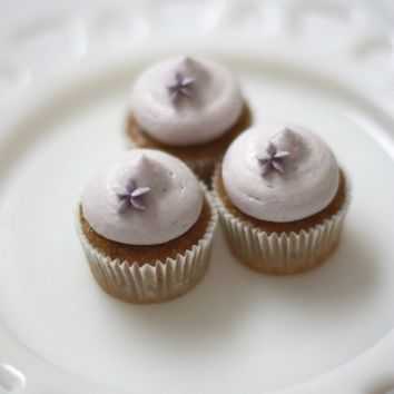 Vegan Mini Cupcakes - Vanilla Spice with Lavender Frosting