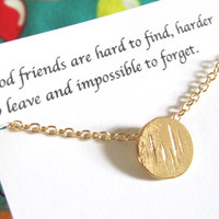 Friendship necklace, best friend necklace, best friend gift |A5| Gold Round Circle Necklace, Gift For Friend, Dainty necklace, Birthday gift