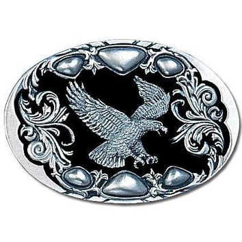 Sports Accessories - Flying Eagle (Diamond Cut) Enameled Belt Buckle