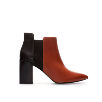 BLOCK HEEL LEATHER ANKLE BOOT - Woman - New this week | ZARA United States