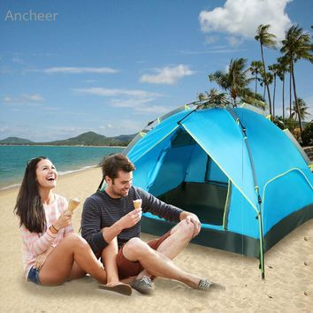 3 In 1 Design Double Layers 3-4 Person Beach Tent