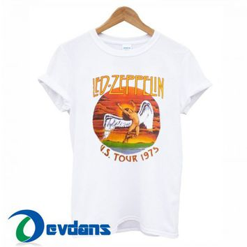 Led Zeppelin US Tour 1975 T Shirt Women And Men Size S To 3XL