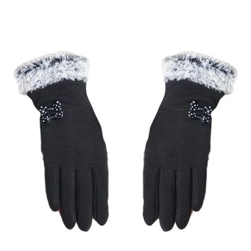 Fashion Elegant Women Touch Screen Gloves Winter Warm Soft Wrist Gloves Mittens  1Pair