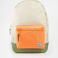 Herschel Supply Co Settlement Backpack in Natural with Colour Block Pocket