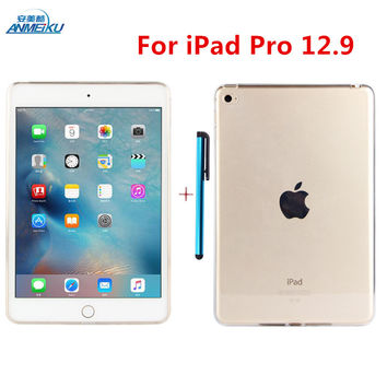 For ipad Pro 12.9 Case Pro Slim Clear Silicone Protective Case TPU Water Cover Mini Hot Soft Transparent Shell Air For iPad 12.9