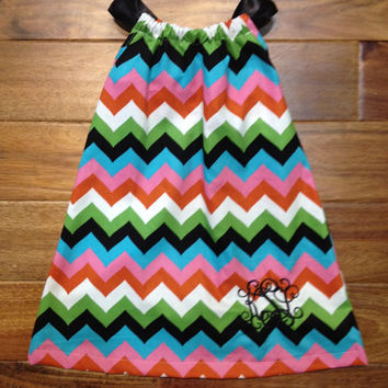 Baby/ Toddler chevron pillow case monogrammed dress