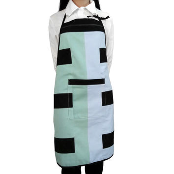 Creative Patchwork Apron Durable Cooking/ Baking/Gardening Bib Apron Pinafore