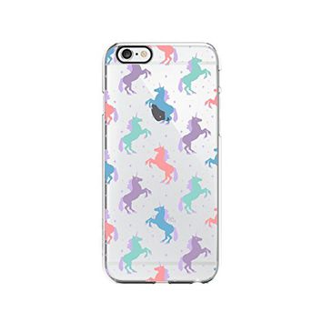 Cute Unicorn Pattern Transparent Silicone Plastic Phone Case for iphone 7PLUS _ LOKIshop (iphone 7 plus)