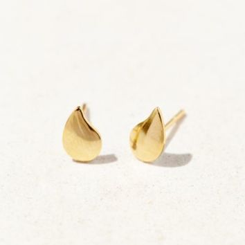 Brooklyn Charm Tear Drop Stud Earring- Gold One