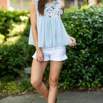 Baby Doll Beauty Top, Baby Blue