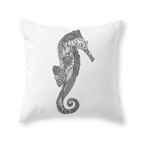 Society6 Seahorse Throw Pillow