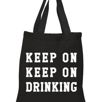 "Nick Jonas ""Champagne Problems - Keep On, Keep On Drinking"" 100% Cotton Tote Bag"