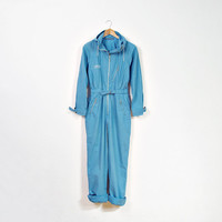 70s PROTOTYPE Design Eliza Coveralls with Hoodie / Stellar Astronaut / Made in Norway / Size S